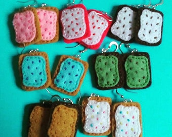 Poptart earrings- 7 colours available