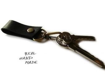 Leather Keychain - Black