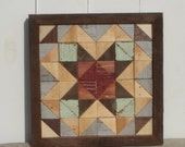 barn star quilt block,  rustic barn quilt, wall quilt sqaure