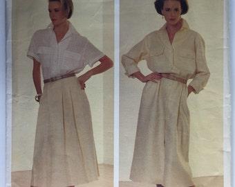 Vogue 1320 Calvin Klein Dress American Designer size 10 uncut