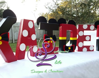 "Mickey Mouse birthday party  ""inspired"" letters"