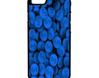 Blue Money Pills iPhone Galaxy Note LG HTC Hybrid Rubber Protective Case
