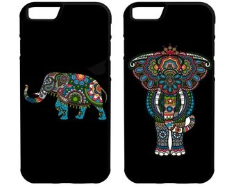 Indian Elephants iPhone Galaxy Note LG HTC Hybrid Rubber Protective Case