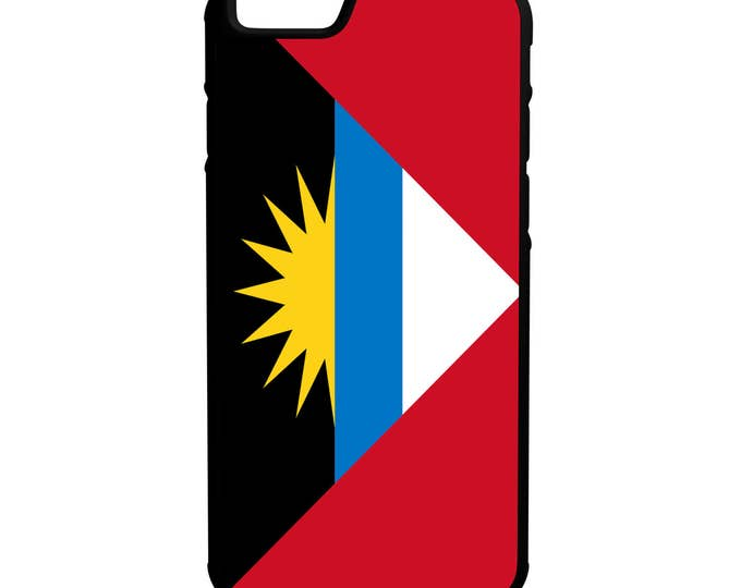 Flag of Antigua iPhone Galaxy Note LG HTC Hybrid Rubber Protective Case