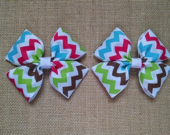 Colorful Pigtails, Pigtail Hairbows, Girls Hair Accessory, Toddler Hairbows, Colorful Hair Clips, Girls Hairbow, Colorful Hairbows