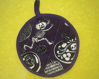 Day of the Dead Halloween Running Pumpkin