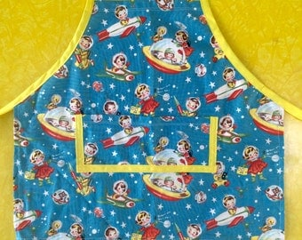 Retro Space Kids Toddler Apron
