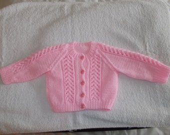 Babies hand knitted cardigans