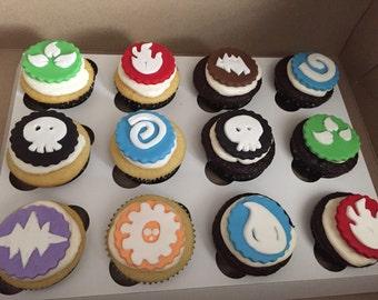 Skylander inspired cupcake toppers