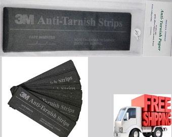 3M Anti-Tarnish Paper Strips 2 x 7 Inch ( 25 Strips ) Fresh New Sealed
