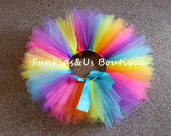 Pixie Rainbow Tutu skirt-  Fairy Rainbow Pixie Tutu Skirt - Newborn tutu, from 6,12,18 months old - CLEARANCE SALE!!!!!!!!!!