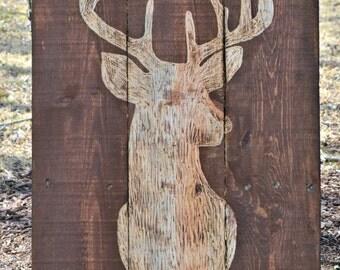 Deer Buck Pallet Wood Art Pallet Sign Decor Buck Hunting