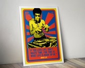 Bruce Lee Quotation Pop Art Print