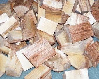 Hazelnut Wood CHUNKS, 1 Pound, Fresh Cut, No Bark, Corylus americana, BBQ. Grilling, Meat Smoking