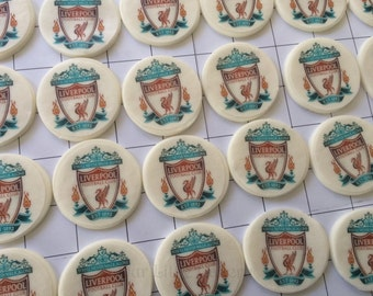Liverpool edible cupcake toppers
