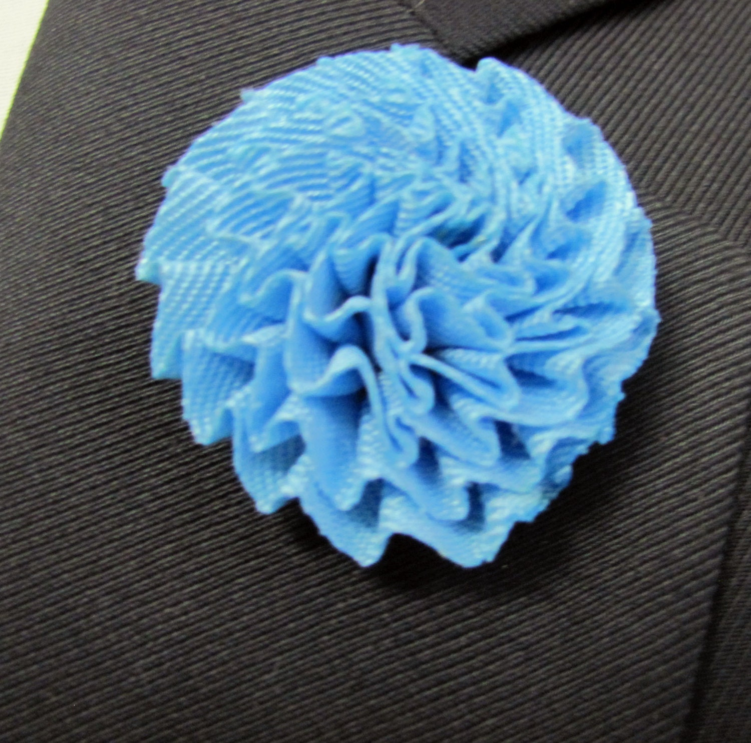 Light Blue Rose Flower Silk Boutonniere With 2 Inch Stick
