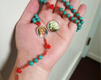 Personalized Red Rose Rosary