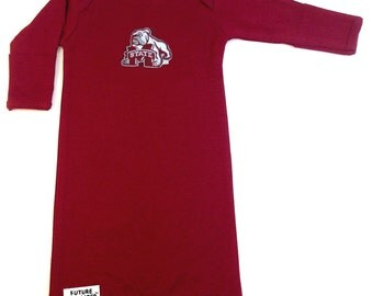 Mississippi State Bulldogs Baby Layette Gown