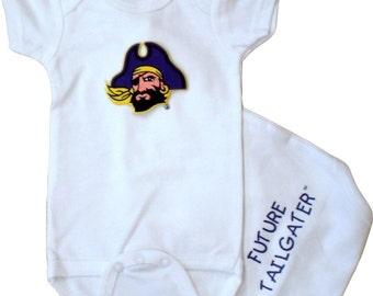 East Carolina Pirates Future Tailgater Baby Bodysuit