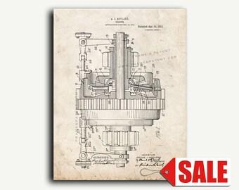 Patent Print - Gearing Patent Wall Art Poster