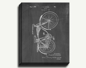 Canvas Patent Art - Schwinn Bicycle Gallery Wrapped Canvas Print