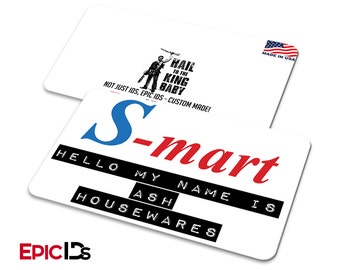 Army of Darkness Ash Williams S-Mart Employee Name Badge
