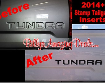 Toyota Tundra Insert Letter 2014 2015 2016 2017 Truck Stamped Tailgate Graphic Vinyl Decal Sticker Bed Yoda Yota TRD Car Accessories