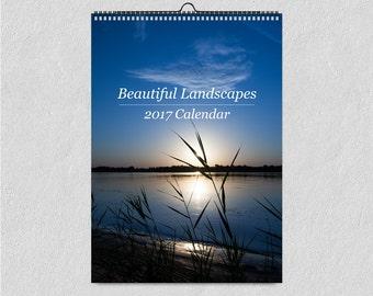 2018 Calendar, Wanderlust, Wall Calendar, Travel Photography, Landscapes