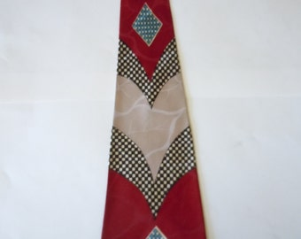 Attractive 1940s Satin Rayon Bold Swing Tie