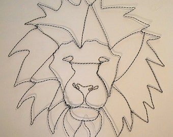 Large Wire Lion Head