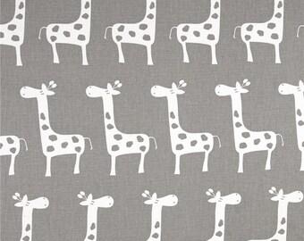 Giraffe Fabric, Kids Fabric, Baby Fabric, Gray/White Jungle/Safari, Animal/HomeDecor/Nursery/Quilt/Diy/Sewing/Craft Supplies/Novelty