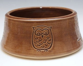 Owl Dog Bowl