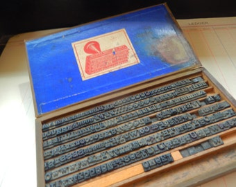 Antique Superior Solid Rubber Type Stamp Set 1892 No.17