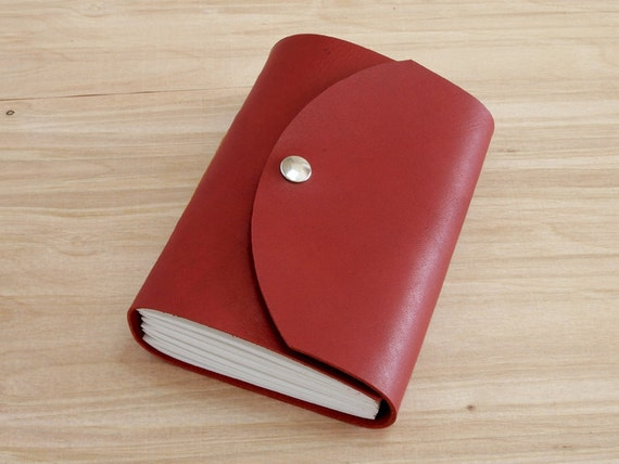 Freemont - 4X6 Red, Handmade Leather Journal