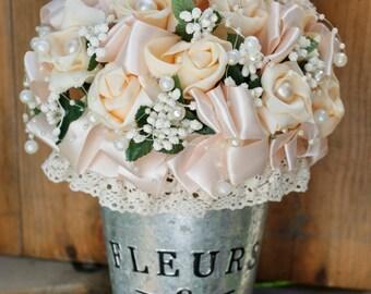 Wedding bouquet, Rustic artificial flower decor, Handmade wedding flower bouquet, Luxury table decoration, Wedding centrepiece