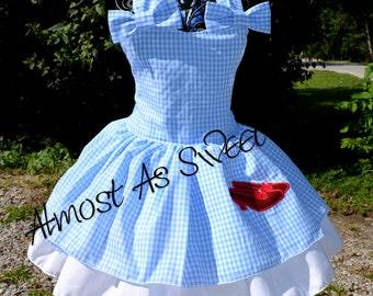 Wizard of Oz Dorothy Poppy Dress- Dorothy Dress- Costume-Gingham-Wizard of Oz