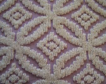 Chenille Twin Bed spread / cutter Lavender