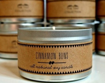 CINNAMON BUNS Soy Candle. Natural Candle. Scented Candle. Eco Friendly. Vegan Friendly. Gift for Him. Gi