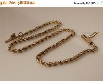 "VALENTINES SALE 14k Rope Chain Bracelet 8"""