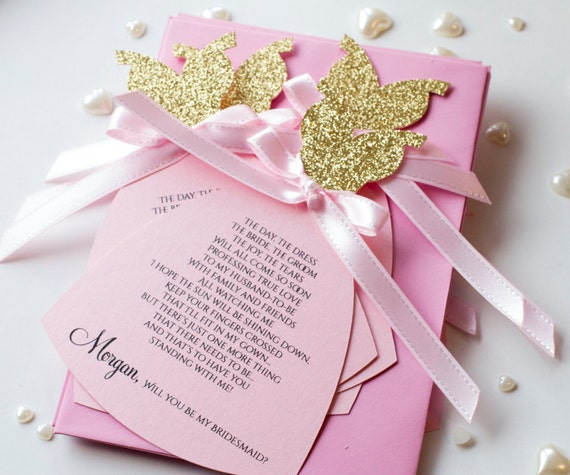 Will You be my Maid of Honor Card in Dress Shape. Bachelorette Invitation Silver Glittered Bustier, Maid of Honor Proposal
