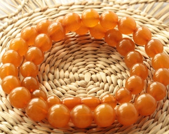 BEADS Baltic Amber Ladies Necklace Antique Honey Pressed 35.9g Jewellery ж