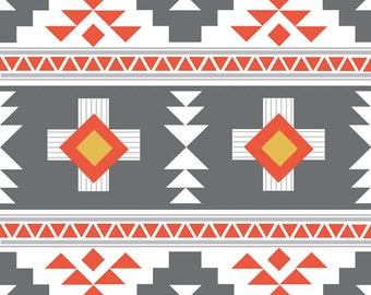 Aztec Triangle in Grey KNIT, Four Corners Collection by Simple Simon for Riley Blake Designs