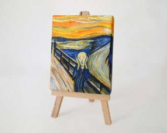 The Scream (after Edvard Munch) Mini Canvas Art