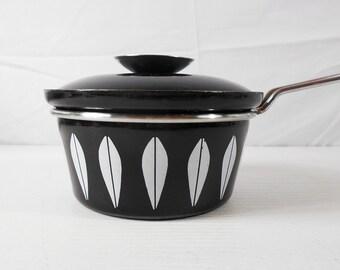 Cathrineholm, Norway Black Lotus Saucepan and Lid