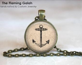 ANCHOR Pendant • Vintage Anchor • Vintage Nautical • Sailor • Vintage Sailing • Steampunk Anchor • Gift Under 20 • Made in Australia (P1132)