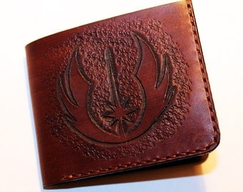 Star Wars Wallet, Wallet With Jedi Order Sybol, Handmade Wallet, Leather Wallet, Star Wars, Credit Card Wallet,Great Gift!