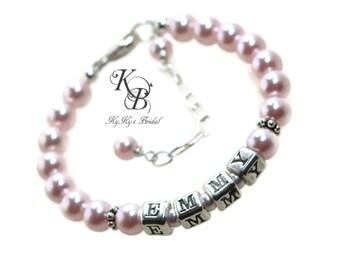Baby Bracelet Personalized - Baby Name Bracelet - Baby Girl Gift - Newborn Baby Gift - Personalized Baby Gifts - Keepsake Baby Gift