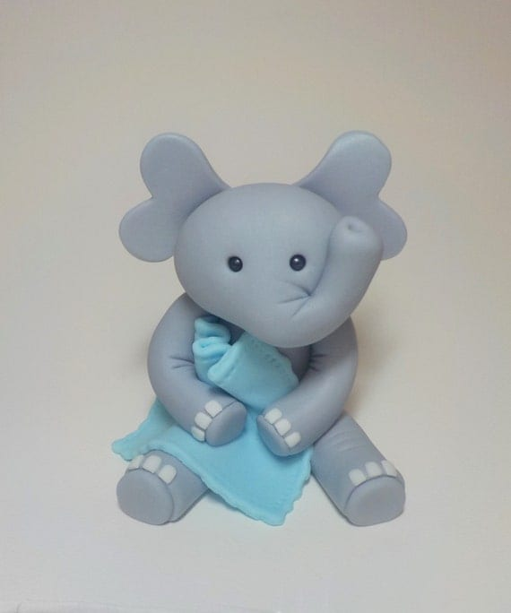 Elephant Cake Topper Boy