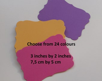 100 Note cards, Choose from 24 colors, 3 inches by 2 inches, #018