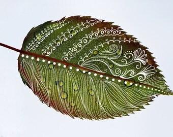 Modern leaf photo art, green leaves wall decal, botanical leaf decor, botanical leaves, leaf & plant garden art, leaf print, palm leaf Decor